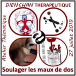 [ Agenda ] Atelier Dien Chan Thérapeutique: techniques pour soigner le mal de dos